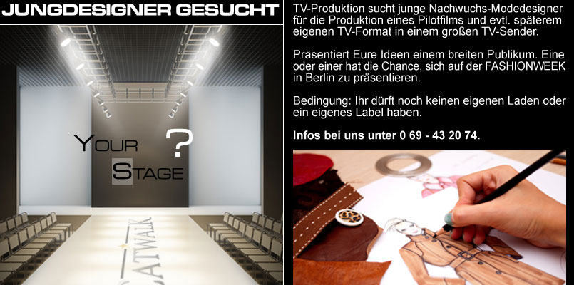 Junge modedesigner gesucht catwalk make up for Modedesigner frankfurt